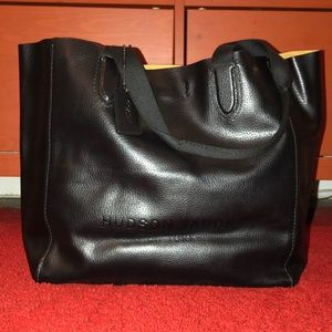 Coach Hudson Yards NYC HQ Ltd ED BLK Leather Tote.